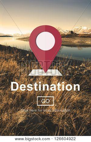 Destination Location Holiday Navigation Place Concept