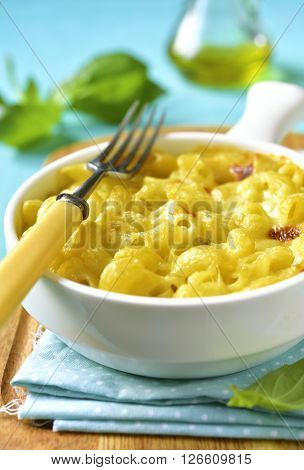 Mac And Cheese - Traditional American Casserole With Pasta.