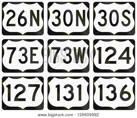 Collection Of General United States Route Shields