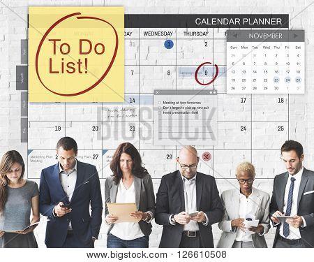 To Do List Schedule Calender Planner Organization Concept