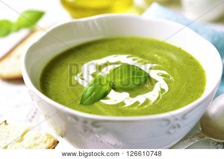 Zucchini Creamy Soup.