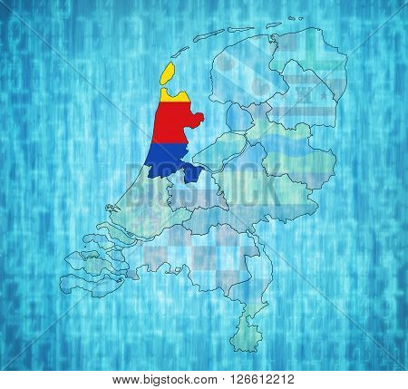 North Holland On Map Of Provinces Of Netherlands