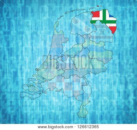 Groningen On Map Of Provinces Of Netherlands