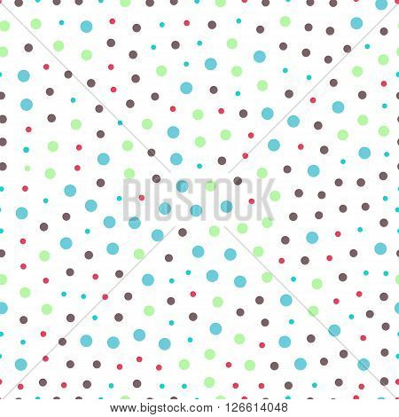 seamless pattern of circles dots - vector illustration. Orbs and circles are randomly distributed large and small.