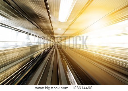 Motion in railway tunnel