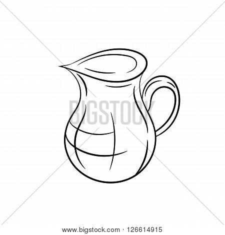 Hand draw jug on a white background - stock vector