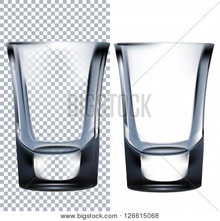 Shot Glass. Vector illustration. Isolated on white background