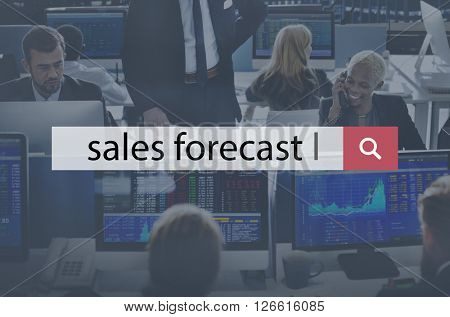 Sales Forecast Forecasting Future Investment Concept