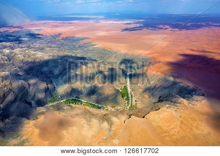 Kuiseb Canyon Aerial View, Namibia, Africa