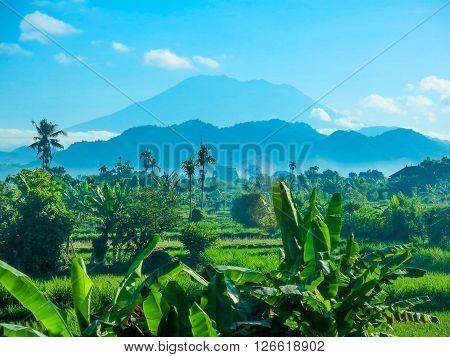 Mount Agung active volcano, Bali, Indonesia, Asia