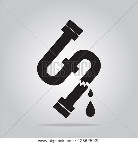Water leak icon Pipe icon sign vector illustration