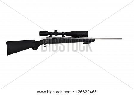Rifle High Power Tactical Sniper Weapon And Long Range Scope