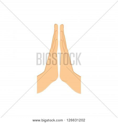 Vector illustration praying hands icon. Hand prayer
