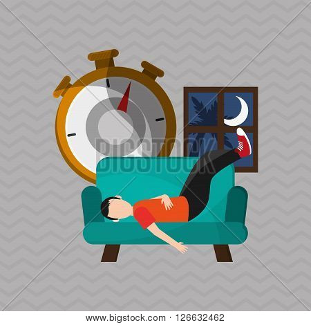 resting concept with icon design, vector illustration 10 eps graphic.