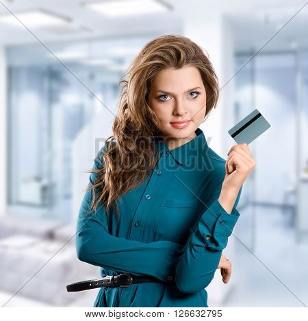 Girl Showing Credit Card