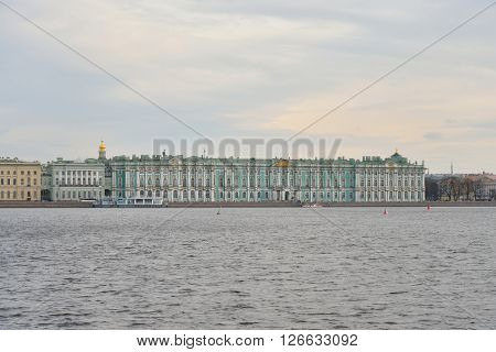 View of the Hermitage and Neva river in St.Petersburg Russia. ** Note: Soft Focus at 100%, best at smaller sizes