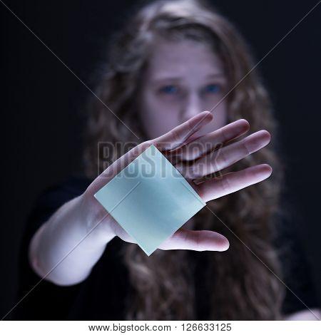 Female Confronting Online Violence