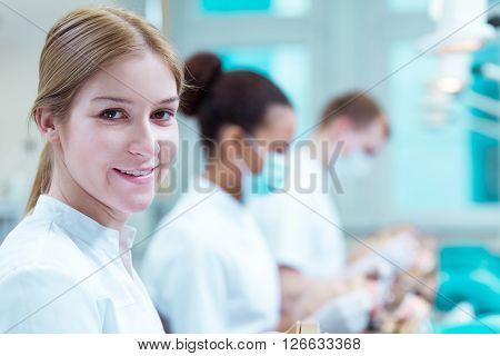 Pretty Future Dentist At University