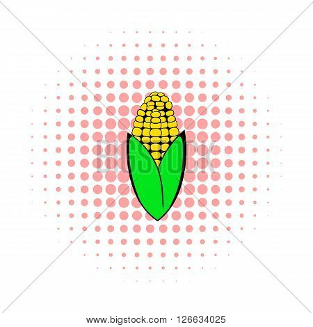 Corncob icon in comics style on a white background