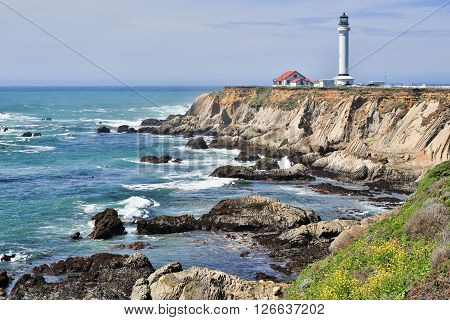 Point Arena State Marine Reserve in Mendocino County on California north central coast.