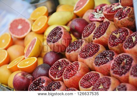 Colorful Display Of Fruits
