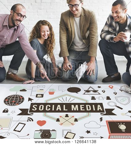 Social Media Connection Global Communication Concept