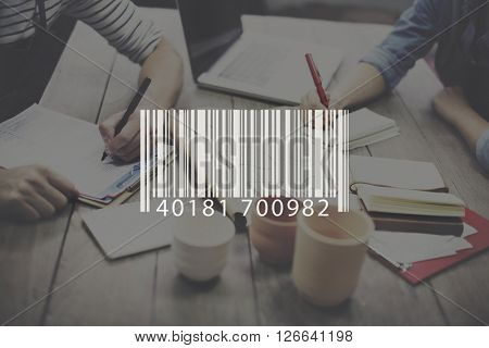 Barcode Data Electronic Label Logistics Retail Laser Concept