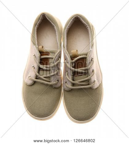 Sneakers for kid, isolated on white