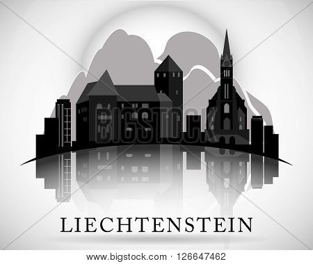 Modern Liechtenstein Skyline Design. Detailed vector illustration.