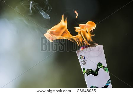 "Last Rehersal Of The The Lighting Ceremony Of The Flame For The Olympic Games ""rio 2016"" And The Tor"