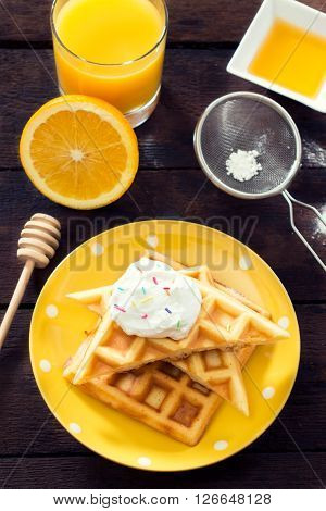 Waffles And Sweet Cream