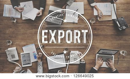 Export Trade Shipping Freight Concept