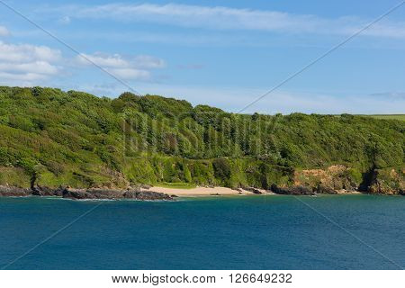 Sunny Cove beach Salcombe Devon UK secluded beach in the estuary