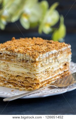 Puff Cake With Cream.