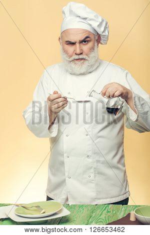 Chef Cook Preparing Food