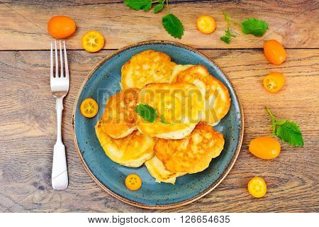 Pancakes with Kumquats and Cranberries Studio Photo