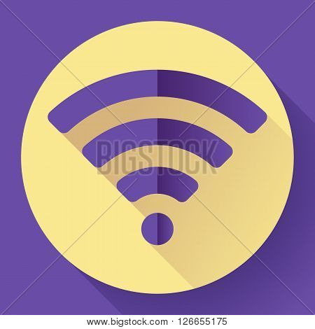WIFI free internet connection Icon. Flat design style
