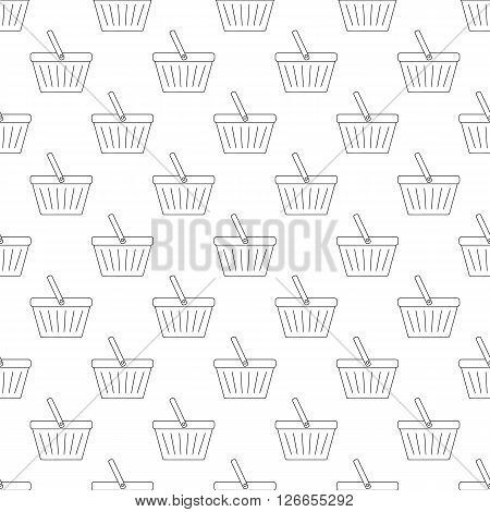 Shopping basket pattern seamless black for any design