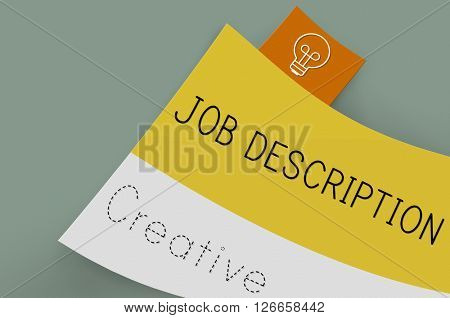 Job Description Task Duty Role Occupation Concept