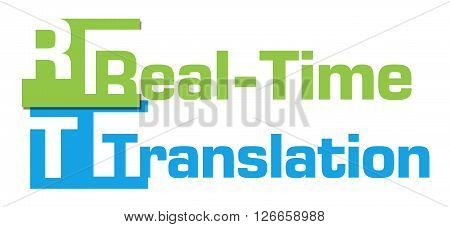 Realtime translation text written over colorful background.