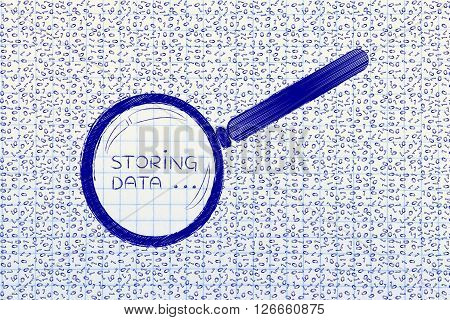 Messy Binary Code Analyze By Magnifying Glass, Storing Data