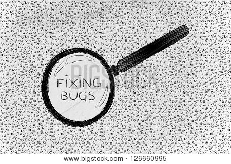 Messy Binary Code Analyze By Magnifying Glass, Fixing Bugs