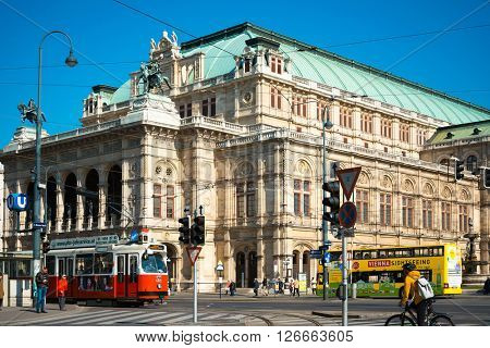 VIENNA, AUSTRIA-April 19 : old town main street on April 19, 2016.Vienna is the capital and largest city of Austria.