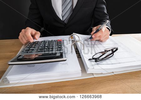 Male Accountant Working With Financial Data