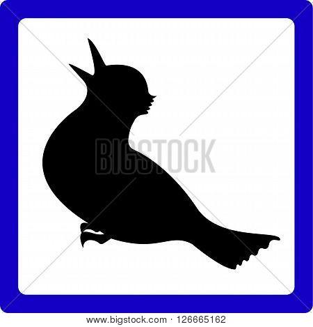 Icon With The Bird. Vector EPS 10.