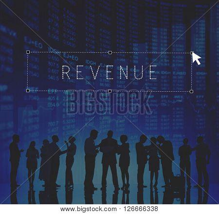 Revenue Income Profit Costs Finance Banking Concept