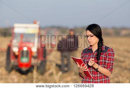 Farmer Woman On Field