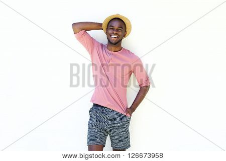 Happy Young African Man In Summer Wear