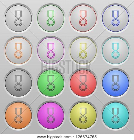 Set of medal plastic sunk spherical buttons.