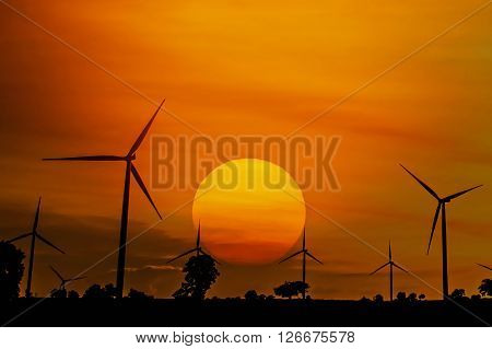 The wind turbine generator the renewable energy